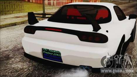Mazda RX-7 Enhanced Version for GTA San Andreas back view