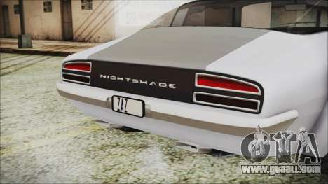 Imponte Nightshade for GTA San Andreas back view