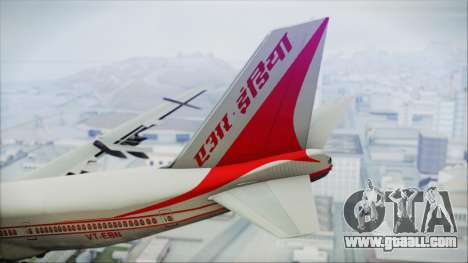 Boeing 747-237Bs Air India Rajendra Chola for GTA San Andreas back left view