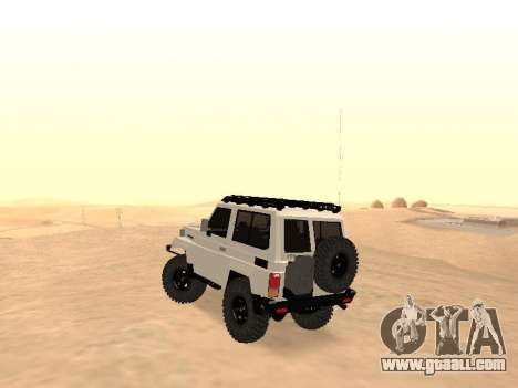 Toyota Machito Off-Road (IVF) 2009 for GTA San Andreas back left view