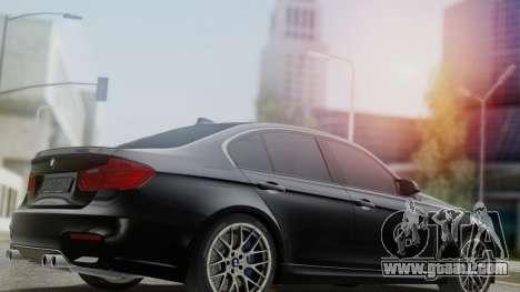 BMW M3 F30 SEDAN for GTA San Andreas left view
