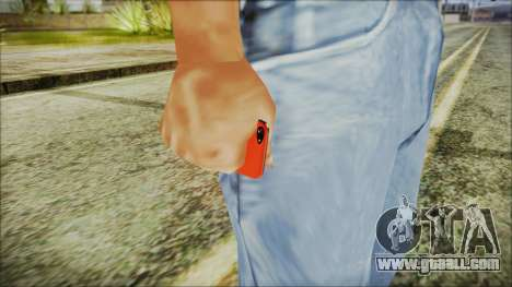 iPhone 5 Red for GTA San Andreas third screenshot