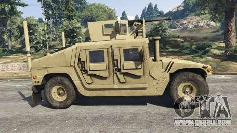 GTA 5 HMMWV M-1116 [desert] left side view