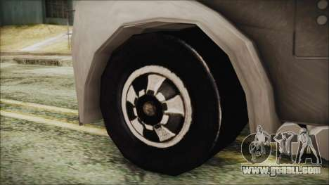 Hot Wheels Funny Money Truck for GTA San Andreas back left view