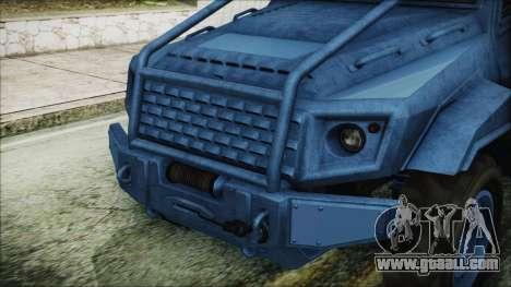 GTA 5 HVY Insurgent Pick-Up IVF for GTA San Andreas back view