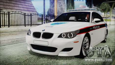 BMW M5 E60 Bosnian Police for GTA San Andreas