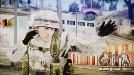 World In Conflict US Marine Winter for GTA San Andreas