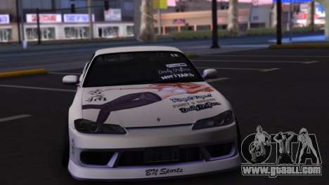 Nissan Silvia S15 Daily Drifters for GTA San Andreas back view