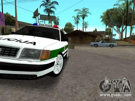 Audi 100 C4 1995 Police for GTA San Andreas upper view