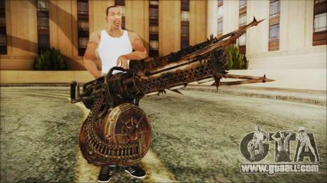 Fallout 4 Shredding Minigun for GTA San Andreas third screenshot