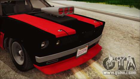 GTA 5 Declasse Tampa IVF for GTA San Andreas back view