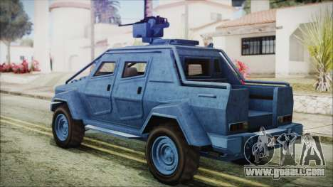 GTA 5 HVY Insurgent Pick-Up IVF for GTA San Andreas left view
