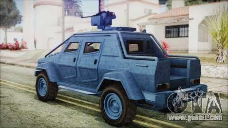 GTA 5 HVY Insurgent Pick-Up IVF for GTA San Andreas left view