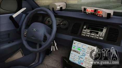 Ford Crown Victoria Miami Dade v2.0 for GTA San Andreas right view