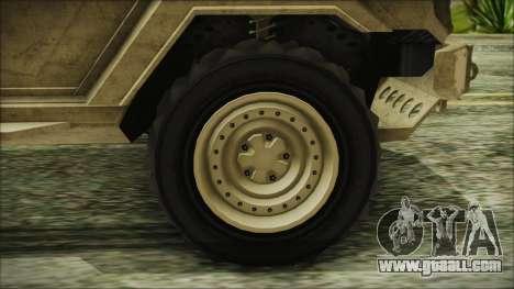 GTA 5 HVY Insurgent Van for GTA San Andreas back left view