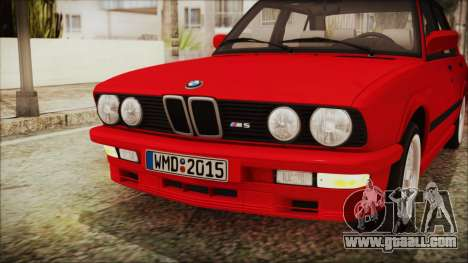 BMW M5 E28 1988 for GTA San Andreas inner view