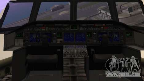 GTA 5 Cargo Plane for GTA San Andreas back view