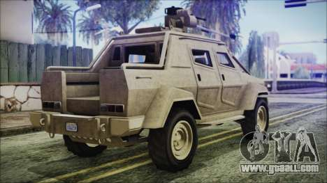 GTA 5 HVY Insurgent Pick-Up for GTA San Andreas left view
