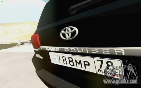 Toyota Land Cruiser 200 2016 for GTA San Andreas