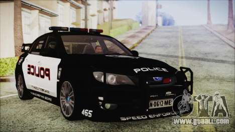 Subaru Impreza Police for GTA San Andreas