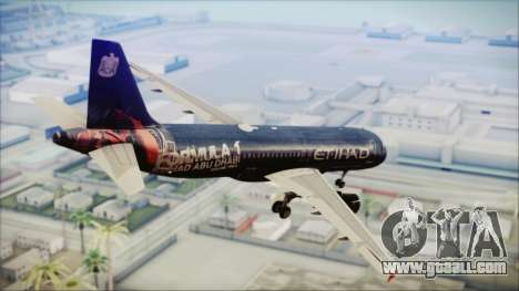 Airbus A320-200 Etihad Airways Abu Dhabi Grand for GTA San Andreas left view