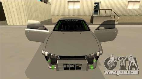 Nissan Silvia S14 Drift Monster Energy for GTA San Andreas upper view