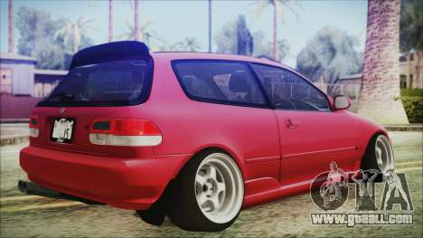 Honda Civic EG6 Hellaflush for GTA San Andreas left view