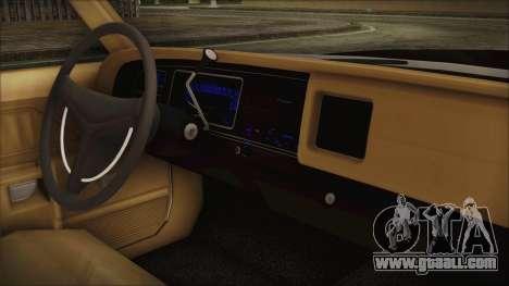 Dodge Monaco 1974 SFPD for GTA San Andreas right view