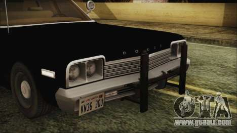Dodge Monaco 1974 LVPD IVF for GTA San Andreas inner view