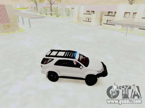 Toyota Fortuner 4WD 2015 Rustica V2 for GTA San Andreas left view