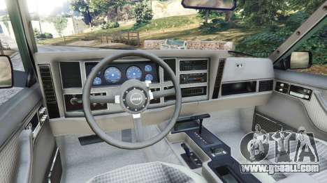 GTA 5 Jeep Cherokee XJ 1984 [Beta] rear right side view