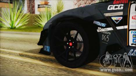 Nissan GT-R R35 Naoto for GTA San Andreas back left view