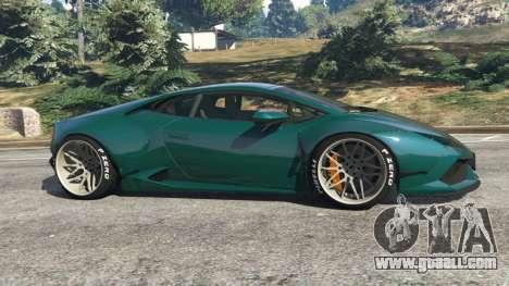 GTA 5 Lamborghini Huracan [LibertyWalk] v1.1 left side view