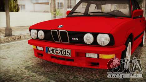 BMW M5 E28 1988 for GTA San Andreas back view