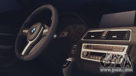 BMW M3 F30 SEDAN for GTA San Andreas back left view