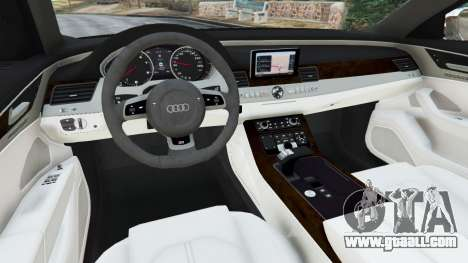 GTA 5 Audi S8 Quattro 2013 rear right side view