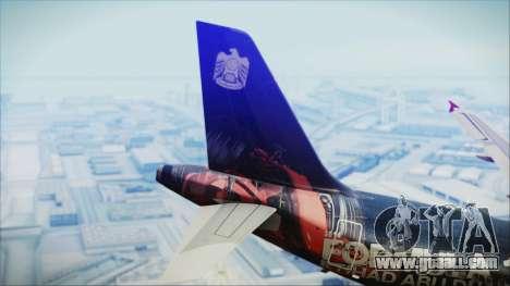 Airbus A320-200 Etihad Airways Abu Dhabi Grand for GTA San Andreas back left view