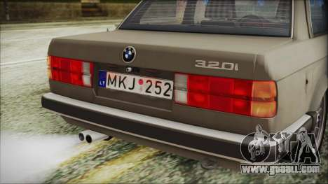 BMW 320i E21 1985 LT Plate for GTA San Andreas back view