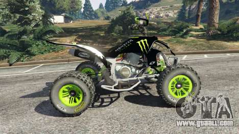 GTA 5 Yamaha YZF 450 ATV Monster Energy left side view