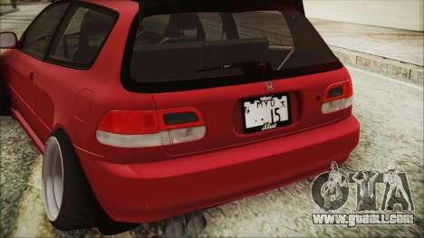 Honda Civic EG6 Hellaflush for GTA San Andreas back view