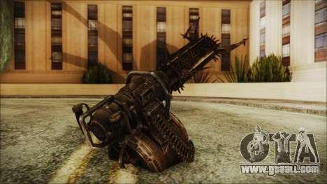 Fallout 4 Shredding Minigun for GTA San Andreas second screenshot