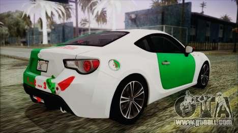 Toyota GT86 (ZN6) 2012 HD Algeria PJ for GTA San Andreas interior