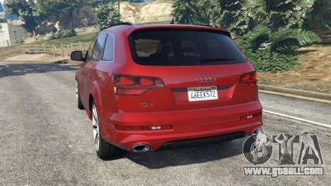 GTA 5 Audi Q7 2010 rear left side view