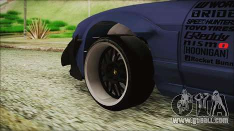 Nissan 180SX Rocket Bunny Edition for GTA San Andreas back left view