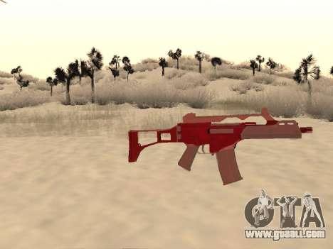 Christmas G36c camo for GTA San Andreas third screenshot