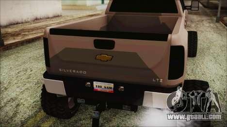 Chevrolet Silverado Triple Door for GTA San Andreas back view