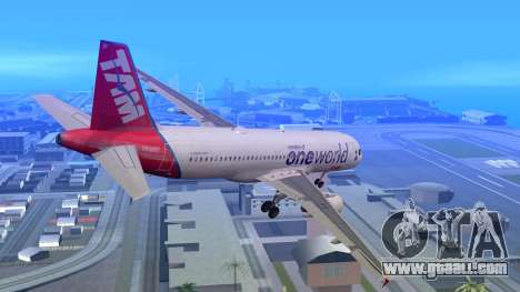 Airbus A320-200 TAM Airlines Oneworld for GTA San Andreas left view