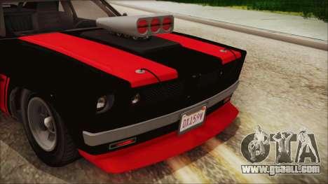 GTA 5 Declasse Tampa IVF for GTA San Andreas inner view