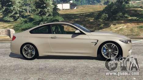 GTA 5 BMW M4 2015 v1.1 left side view
