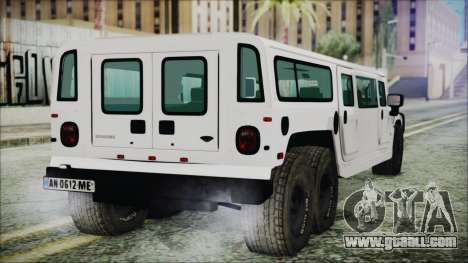 Hummer H1 Limo 6x6 for GTA San Andreas left view